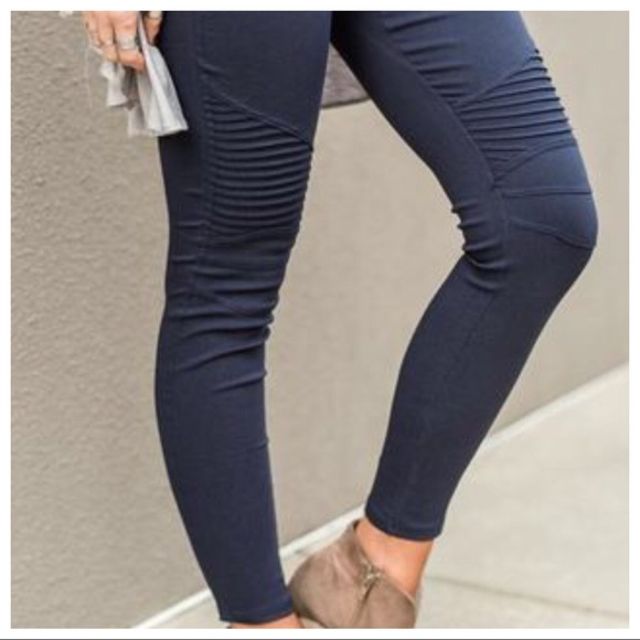 c7711ec7172dc Beulah Style Pants | Trendy Moto Jeggings Midnight Blue | Poshmark
